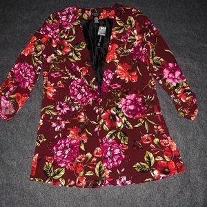 Open Floral Blazer